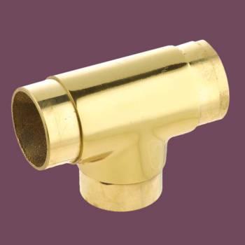 <PRE>Brass Flush TEE Fitting 1.5inch OD Bar Foot Rail Connector </PRE>zoom2