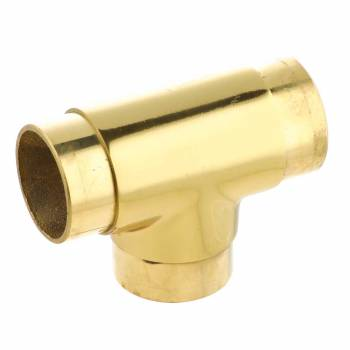 Railing Connector Flush T Connector Polished Brass