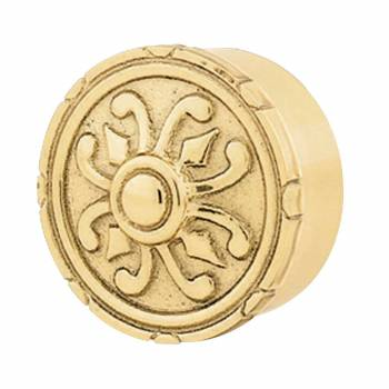 Decorative Victorian Polished Brass Flush Plug