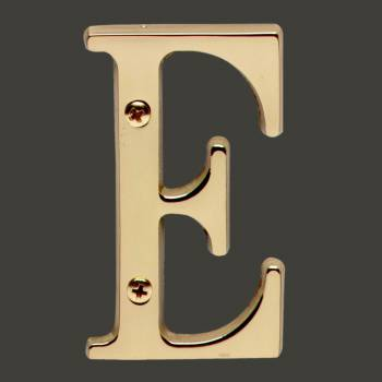 <PRE>Letter inchE&quot; House Letters Solid Bright Brass 3&quot; </PRE>zoom2