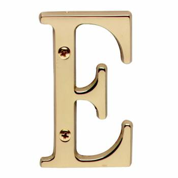 <PRE>Letter inchE&quot; House Letters Solid Bright Brass 3&quot; </PRE>zoom1