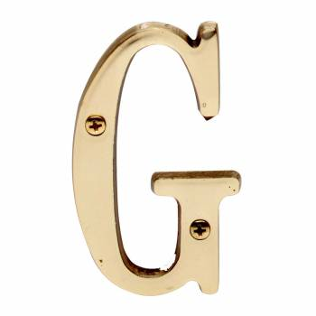 Letter G House Letters Solid Bright Brass 3 House Numbers House Letter G Brass House Letters