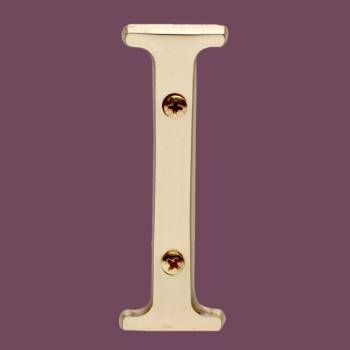 "spec-<PRE>Letter ""I"" House Letters Solid Bright Brass 3"" </PRE>"