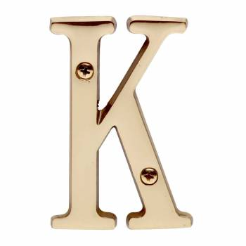 Letter K House Letter Solid Bright Brass 3 House Numbers House Letter K Brass House Letters