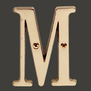 <PRE>Letter inchM&quot; House Letters Solid Bright Brass 3&quot; </PRE>zoom2