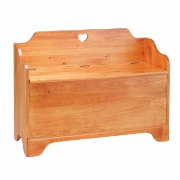 Linen Chest Heirloom Pine Heart Chest Bench 186515grid