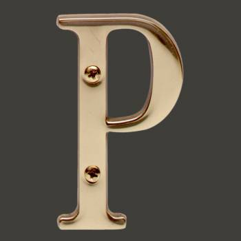 spec-<PRE>Letter &quot;P&quot; House Letters Solid Bright Brass 3&quot; </PRE>