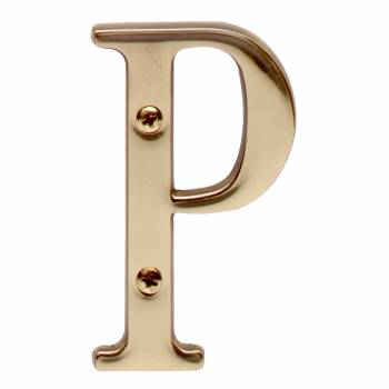 Letter P House Letters Solid Bright Brass 3 House Numbers House Letter P Brass House Letters
