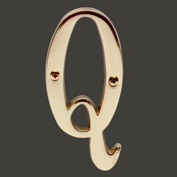 Letter Q House Letters Solid Bright Brass 3 House Numbers House Letter Q Brass House Letters