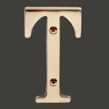"spec-<PRE>Letter ""T"" House Letters Solid Bright Brass 3"" </PRE>"