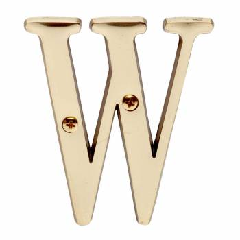 Letter W House Letters Solid Bright Brass 3 House Numbers House Letter W Brass House Letters