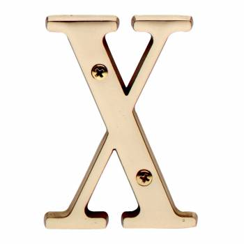 Letter X House Letters Solid Bright Brass 3 Mail Box Numbers Mailbox Numbers House Number