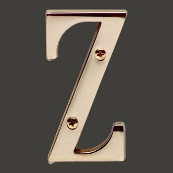 <PRE>Letter inchZ&quot; House Letters Solid Bright Brass 3&quot; </PRE>zoom2