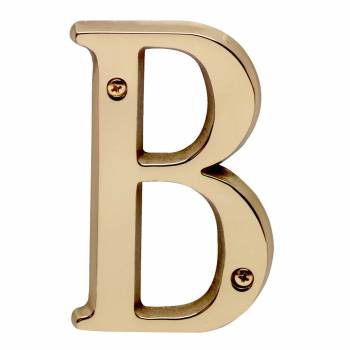 Letter B House Letters Solid Bright Brass 4