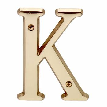 Letter K House Letters Solid Bright Brass 4 Mail Box Numbers Mailbox Numbers House Number