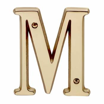 Letter M House Letters Solid Bright Brass 4 Mail Box Numbers Mailbox Numbers House Number