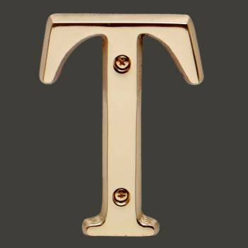Letter T House Letters Solid Bright Brass 4 Mail Box Numbers Mailbox Numbers House Number