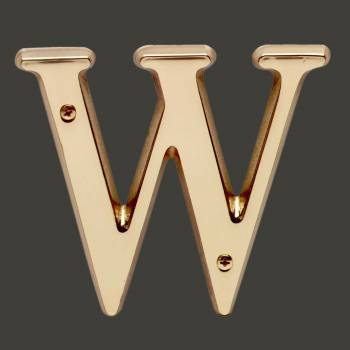 "spec-<PRE>Letter ""W"" House Letters Solid Bright Brass 4"" </PRE>"