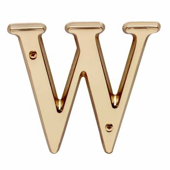 "<PRE>Letter inchW"" House Letters Solid Bright Brass 4"" </PRE>zoom1"