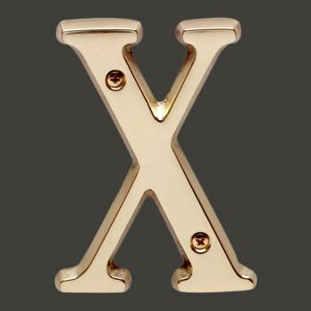 spec-<PRE>Letter &quot;X&quot; House Letters Solid Bright Brass 4&quot; </PRE>