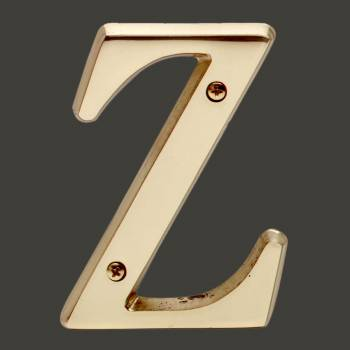 Letter Z House Letters Solid Bright Brass 4 Mail Box Numbers Mailbox Numbers House Number