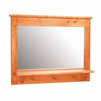 Peg Shelf Mirror Heirloom Pine