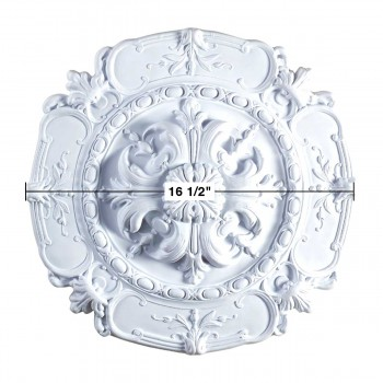 "spec-<PRE>Ceiling Medallion White Urethane 16 1/2"""" Diameter  </PRE>"