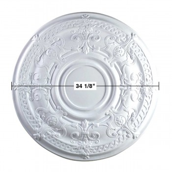 "spec-<PRE>Ceiling Medallion White Urethane 34 1/8"" Diameter  </PRE>"
