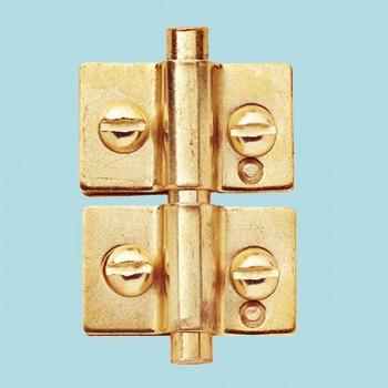 Door Hinges - Brass Mirror Hinge 1-1/4 in. x 1-1/2 in. by the Renovator's Supply