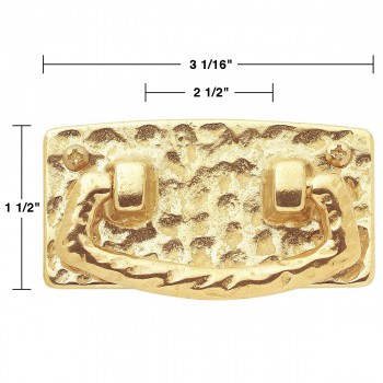 spec-<PRE>Vintage Bright Solid Brass Mission Bail Pull 2 1/2&quot; </PRE>
