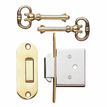 <PRE>Desk Lock Solid Bright Brass with Key </PRE>