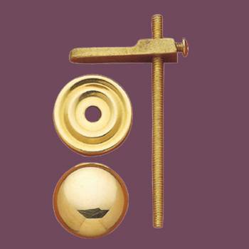 <PRE>Cabinet Knobs Solid Bright Brass Turns to Latch 1inch </PRE>zoom2