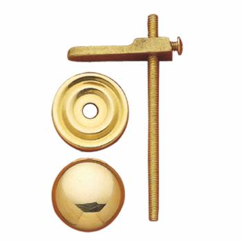 Cabinet Knobs Solid Bright Brass Turns to Latch 1