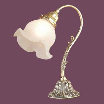 <PRE>Table Lamp Antique Brass Sea Flower Lamp 13&quot;H x 4.5&quot;W </PRE>