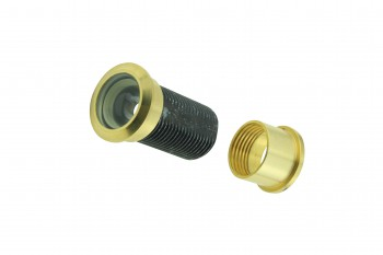 "<PRE>Door Peephole Viewer Brass 160 degree 1 1/8inch to 2 1/16"" Adjustable Length</PRE>zoom4"