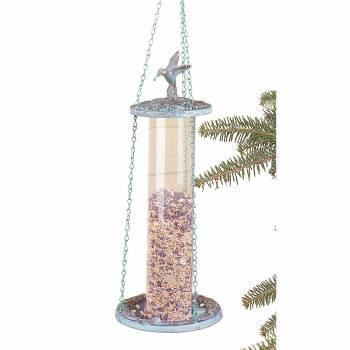 Birdfeeders Verdegris Brass/Plastic Birdfeeder 18815grid