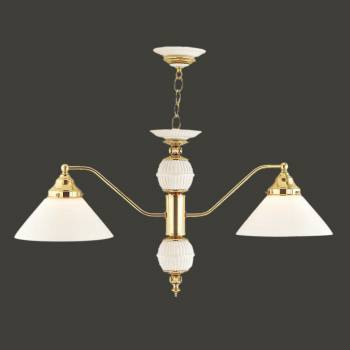 <PRE>Chandelier Bright Brass/Glass 2 light 52 1/2H x 2 1/4W </PRE>zoom2