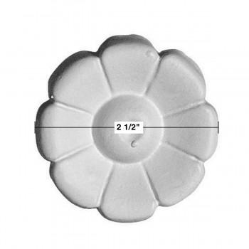 spec-<PRE>Rosette Applique Medallion White Urethane Decorative Flower </PRE>