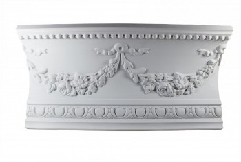 Ornate Cornice White Urethane  75 34 L  Floral Bunting Ornate Ceiling Cornice Molding Decorative White Crown Molding Classy Crown Molding