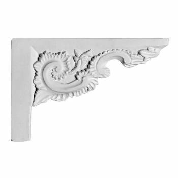 White Urethane Stair Bracket 18875grid