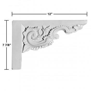 spec-<PRE>White Urethane Stair Bracket </PRE>