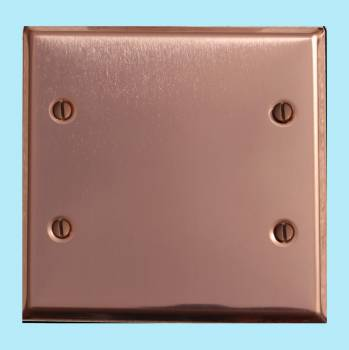 Switchplate Bright Solid Copper Double Blank Switch Plate Wall Plates Switch Plates