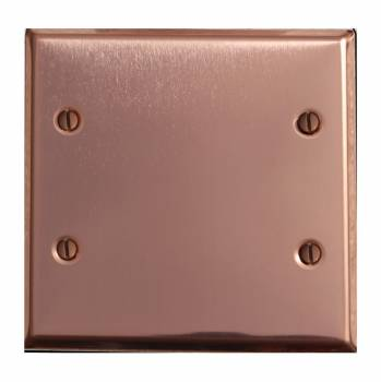 Switchplate Bright Solid Copper Double Blank 18880grid