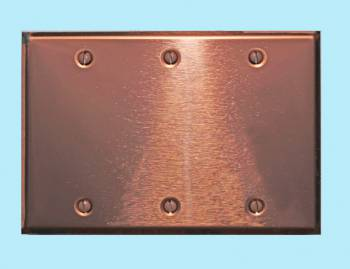 <PRE>Switchplate Bright Copper Triple Blank </PRE>zoom2