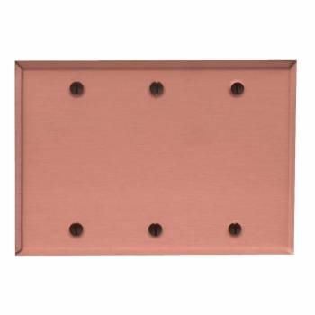 Switchplate Brushed Solid Copper Triple Blank Switch Plate Wall Plates Switch Plates