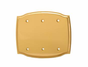 <PRE>Switchplate Bright Solid Brass Triple Blank </PRE>zoom1