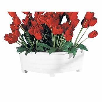 White corner planter