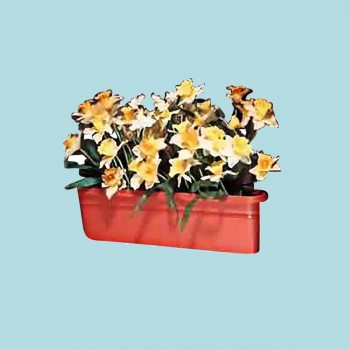<PRE>Planter Terra Cotta Plastic Outdoor Planter 20inchL </PRE>zoom2