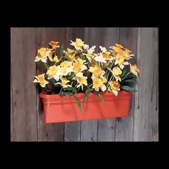 <PRE>Planter Terra Cotta Plastic Outdoor Planter 20inchL </PRE>zoom3