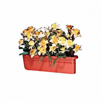 <PRE>Planter Terra Cotta Plastic Outdoor Planter 20inchL </PRE>zoom1